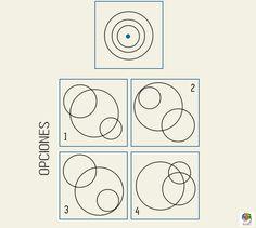 Combinando círculos. Juego de lógica y razonamiento #gimnasiamental