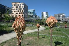 "A number of artists have created urban dwellings for city birds, and now the designers Vaulout & Dyèvre have created the same type of habitat for bugs. Titled ""Insectopia,"" the bug houses have been installed in a park in the 13th arrondissement of Paris as part of an effort to foster urban biodiversity. #expo2015 #milan #worldsfair"