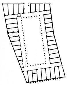 Horrea of Hortensius, Granary, Plan, Ostia, AD 30-40