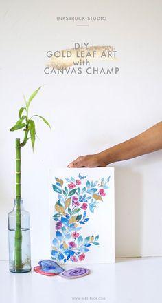 DIY gold leaf art wi