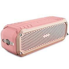 Bluetooth Speakers, COMISO [Max Audio][Rose Gold] Bluetooth