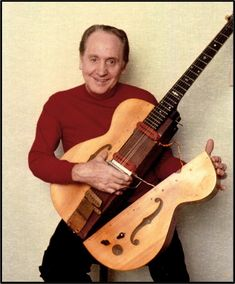 """Epiphone celebrates the 78th birthday of Les Paul's Log Guitar, made at the Epi factory in 1940: """"They all thought I was crazy."""""""