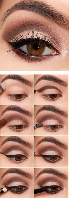 Tutorial de maquillaje para ojos color marrón