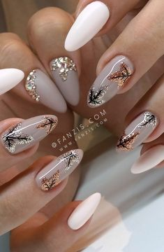 - Best ideas for decoration and makeup - Chic Nail Art, Elegant Nail Art, Chic Nails, Trendy Nail Art, Stylish Nails, Beautiful Nail Art, Gorgeous Nails, Fun Nails, Pretty Nails