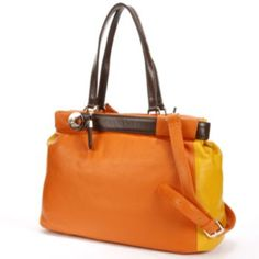 B-Collective by Buxton Hailey Leather Colorblock Convertible Tote