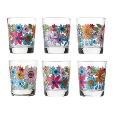 in love with this Ikea pattern - bought the glasses, tray, & dishtowels today. Kitchenware, Tableware, Ceramic Owl, Big Flowers, Interior Accessories, Sweet Home, Interior Decorating, Mugs, Plants