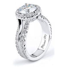 Michael M Split Shank Diamond Engagement Ring