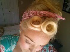 Pin Up Hair Tutorial - with Bianca Bombshell and Cherry Velvet dresses