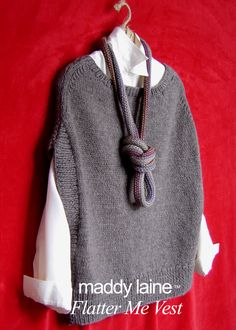 A maddy laine knitting pattern that combines easy-to-knit comfort and stylish shaping to create a sweater vest that will flatter you and anything in your wardrobe. Knit Vest Pattern, Knit Patterns, Christmas Knitting Patterns, Arm Knitting, Simple Knitting, Beginner Knitting, Dress Gloves, Yarn Brands, Knitwear