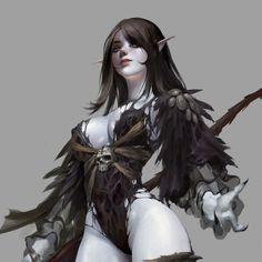 Dark elf, Bangku An on ArtStation at https://www.artstation.com/artwork/WVB0N