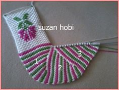 Karanfil modeli tunus işi patik All Free Crochet, Knit Crochet, Soft Slippers, Crochet Fashion, Knitting Yarn, Sewing, Handmade, Crafts, Color