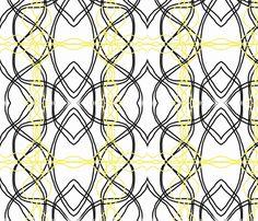 black yellow scandinavian retro-ch fabric by mayadesign on Spoonflower - custom fabric Black N Yellow, Custom Fabric, Spoonflower, Fabric Design, Scandinavian, My Design, Bathrooms, Craft Projects, Fabrics