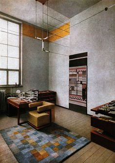 Walter Gropius' office at  the Weimar Bauhaus, 1924.
