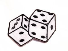 Rockabilly Dice / Iron-on Patches / Black & White / by Tattooit