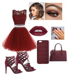 """""""Burgundy is my fav"""" by rheana2005 on Polyvore featuring G by Guess, Dagmar and Prada"""
