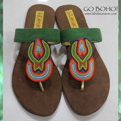 Go boho with www.labelmansion.com #labelmansion #shoes #flats #boho #beads #shoponline #india