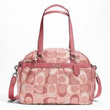 Pink Coach diaper bag...I treated myself to this :)