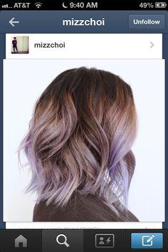Lavender balayage, top shade to lavender no blonde
