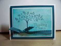 Blue thinking of you by Lynnwoll - Cards and Paper Crafts at Splitcoaststampers