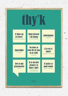 Plakat af Thy'k fra Dialægt