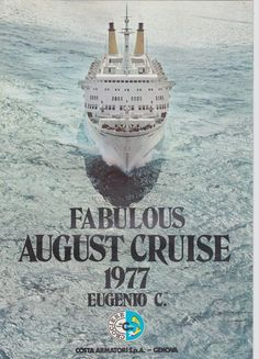 Costa Line Cruises Eugenio C August 1977 26 Day Caribbean Cruise Brochure by UsedNYC on Etsy Ponta Delgada, Cape Canaveral, Cheap Cruises, Shore Excursions, Genoa, Caribbean Cruise, Costa, Activities For Kids, Ocean