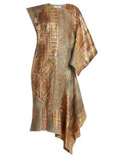 JW Anderson Asymmetric-detail patchwork jacquard dress