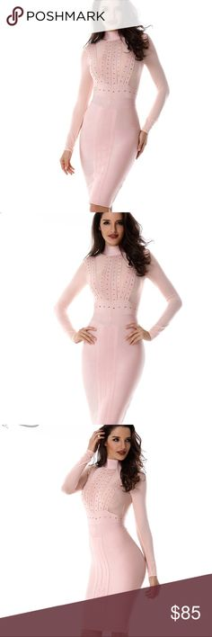 Pink Paradise Bandage Dress Body-contouring, curve-hugging dress. Strong, thick bands. High quality bandage dress. Very flattering fit for all body types. Great for any occasion. Dresses