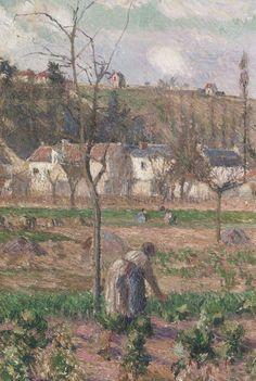 CAMILLE PISSARRO 1882 LE JARDIN DE MAUBUISSON, PONTOISE, LA MÈRE BELETTE