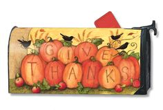 Magnet Works Mailwraps Mailbox Cover - Give Thanks Scarecrow Design Magnetic Mai