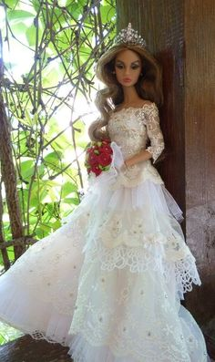 Barbie Clothes, Barbie Stuff, Princess Cartoon, Bridal Gowns, Wedding Dresses, Bride Dolls, Beautiful Barbie Dolls, Vera Wang, Fashion Dolls