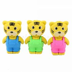 Cute Tiger Rubber Erasers