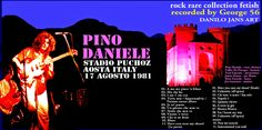 PINO DANIELE - Stadio Puchoz Aosta Italy 17 August 1981  ARTISTIC COVER Of DANILO JANS ART Dal sito ROCK RARE COLLECTION FETISH https://rockrarecollectionfetish.blogspot.it/ e DANILO JANS ART http://danilojansart.blogspot.it/ Works of Danilo JANS executed in mixed media . Visionary artist and surrealist Italian , creates his works thanks to a connection with parallel universes. Danilo Jans was born in 1957 and lives in Pont Saint Martin in the Aosta Valley ( Italy )