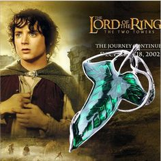 2016 Fashion Leaf Necklace The Hobbit Vintage Elf Green Leaf Necklace Pendant Lord Of The ring Green Leaf Brooches Pin