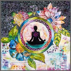 Namaste card 1 by MarikaLemayArtiste on Etsy-Mystical, visionary and fantasy art. Discover some of the most spiritual artwork by amazing artist from around the world. Art Buddha, Buddha Kunst, Buddha Painting, Mandala Art, Art Zen, Yoga Kunst, Namaste Art, Namaste Yoga, Soul Art