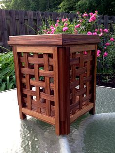 Outdoor Citronella Candle Teak Lantern - made for Rust-Oleum
