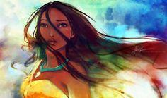 Beautiful Pocahontas painting.