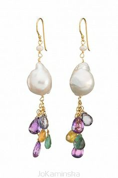 Infinity Baroque Pearl Earrings from the Infinity Collection great for Christmas :)