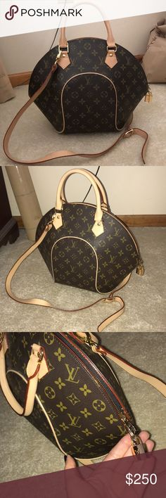 Louis Vuitton Monogram Ellipse MM Louis Vuitton Monogram Ellipse MM purse. Beautiful quality but can not confirm authenticity, it was a gift so authenticity is not confirmed. Flawless exterior and interior is as shown. Comes with lock, key, cross body strap and dust bag, open to offers! Louis Vuitton Bags Crossbody Bags