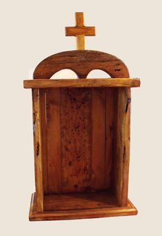 Handcrafted Rustic Wooden Religious   Old by maderaproductions, $89.00