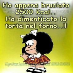 Mafalda e le calorie Thank You Friend, Italian Quotes, Feelings Words, Curious George, Vintage Cartoon, Cute Cards, Good Mood, Funny Moments, Funny Images