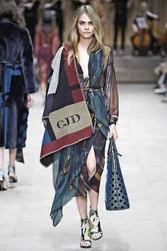 Sales of a Burberry poncho (modelled by Cara Delevigne) carrying a personal monogram and c...