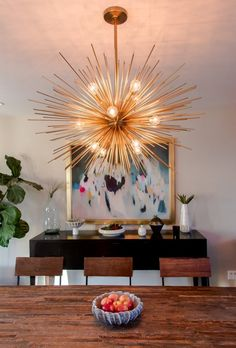 The Chic Technique:  Sputnik starburst light fixture