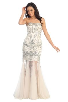 Sweetheart Sequin Tulle Mermaid Gown  EXTRAVAGANZA FIND TOP OF THE LINE QUALITY GOWNS TODAY! ONLY 9-10 DAY SHIPPING ALL CUT AND SEWN IN THE USA http://www.americanbae.com/prom/   #gown #dress #prom #gowns #ball #ballgown #love #dress #homecoming