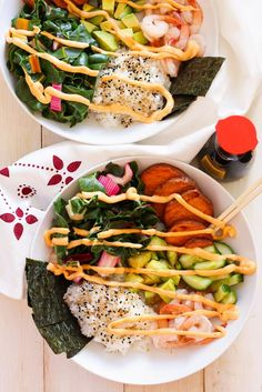 Shrimp Sushi Bowls with Spicy Mayo - The Girl on Bloor