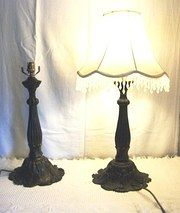 Pair of Art Nouveau Style Table Lamps. Bronze. French. Excellent conditions. circa 1960