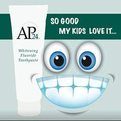 Kids love AP24 Whitening toothpaste #nuskin