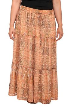 Paisley tiered maxi skirt from Torrid