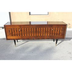 Gold Art Deco Exotic Macassar Ebony Sideboard/Buffet For Sale - Image 8 of 13 Sideboard Buffet, Credenza, Outdoor Furniture, Outdoor Decor, 1940s, Exotic, Art Deco, Gold, Image