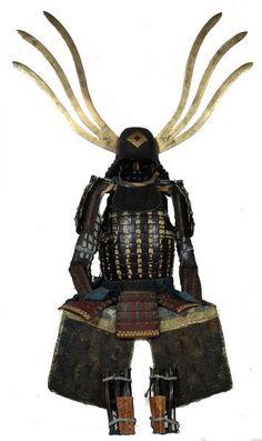 Zunari kabuto with wakidate Samurai Helmet, Samurai Weapons, Samurai Armor, Arm Armor, Body Armor, Japanese Warrior, Japanese Sword, Japanese Art, Martial