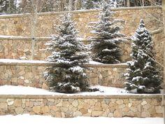 Walls of Vail Creek Natural Stone Veneer. Natural Stone Veneer, Natural Stones, Masonry Veneer, Natural Materials, Walls, Christmas Tree, Rock, Holiday Decor, Nature